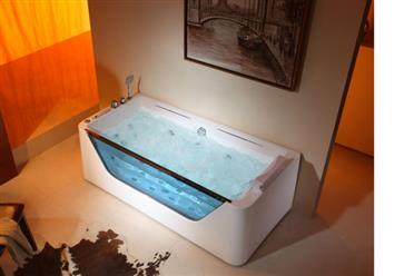 Jetted Bathtub Whirlpool Amp Air Massage Waterfall Heater